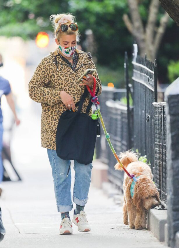 Busy Philipps - Wears a cheetah print jacket in New York