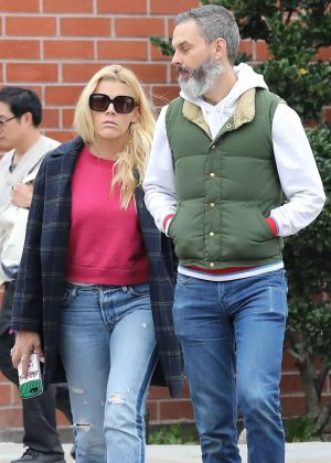Busy Philipps with her husband out in Beverly Hills