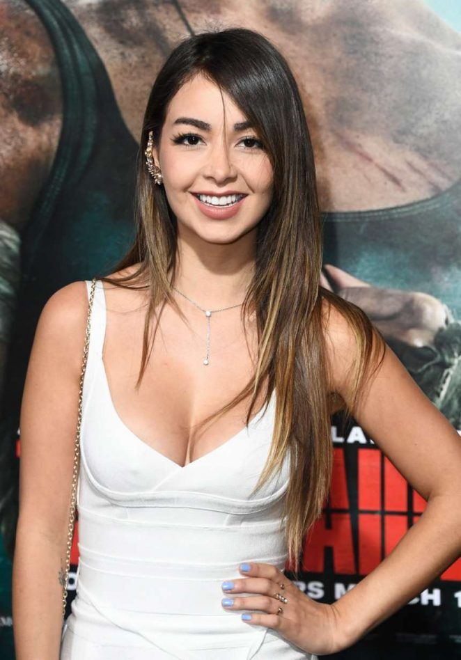 Caeli - 'Tomb Raider' Premiere in Hollywood
