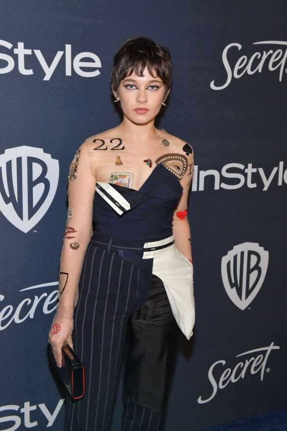 Cailee Spaney - 2020 InStyle and Warner Bros Golden Globes Party in Beverly Hills