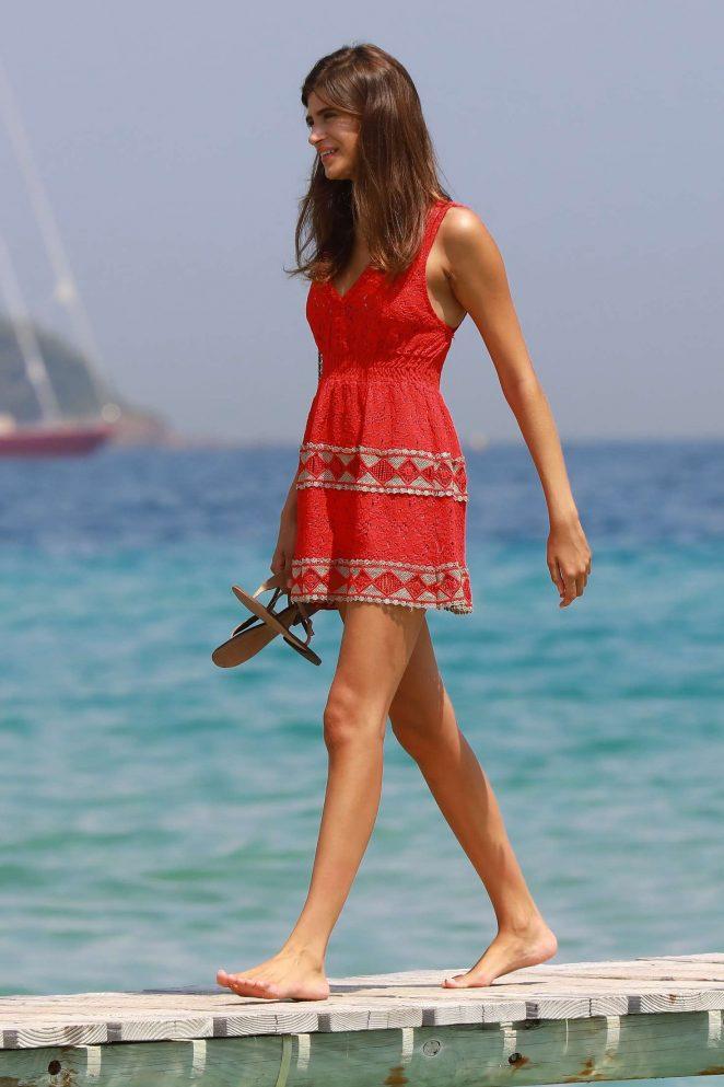 Cairo Dwek in Red Mini Dress - Arrives to the Club 55in Saint Tropez