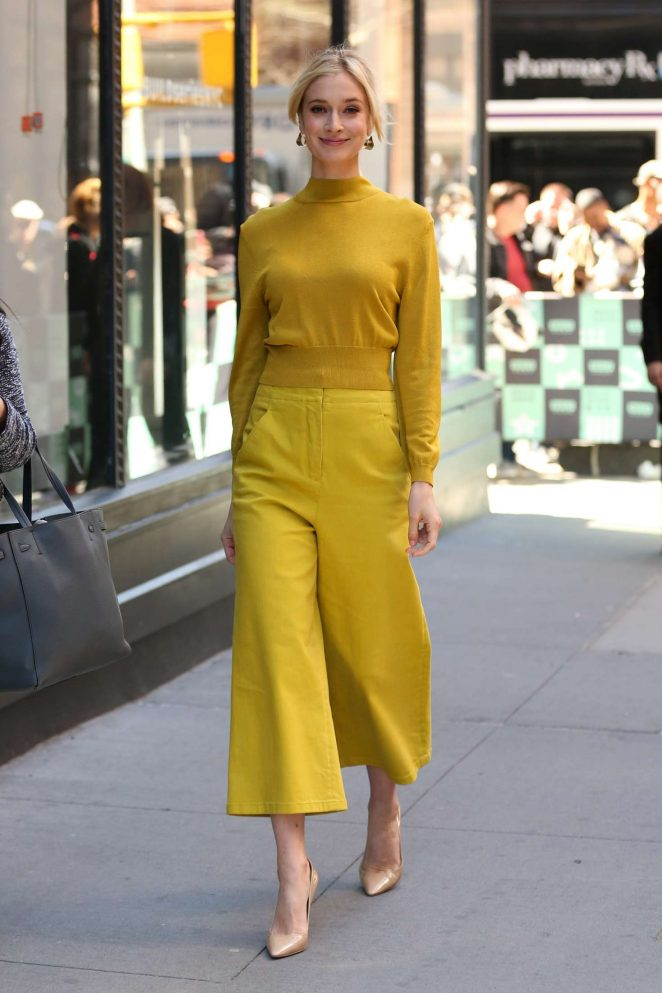 Caitlin Fitzgerald – Leaves AOL Build Series in New York City