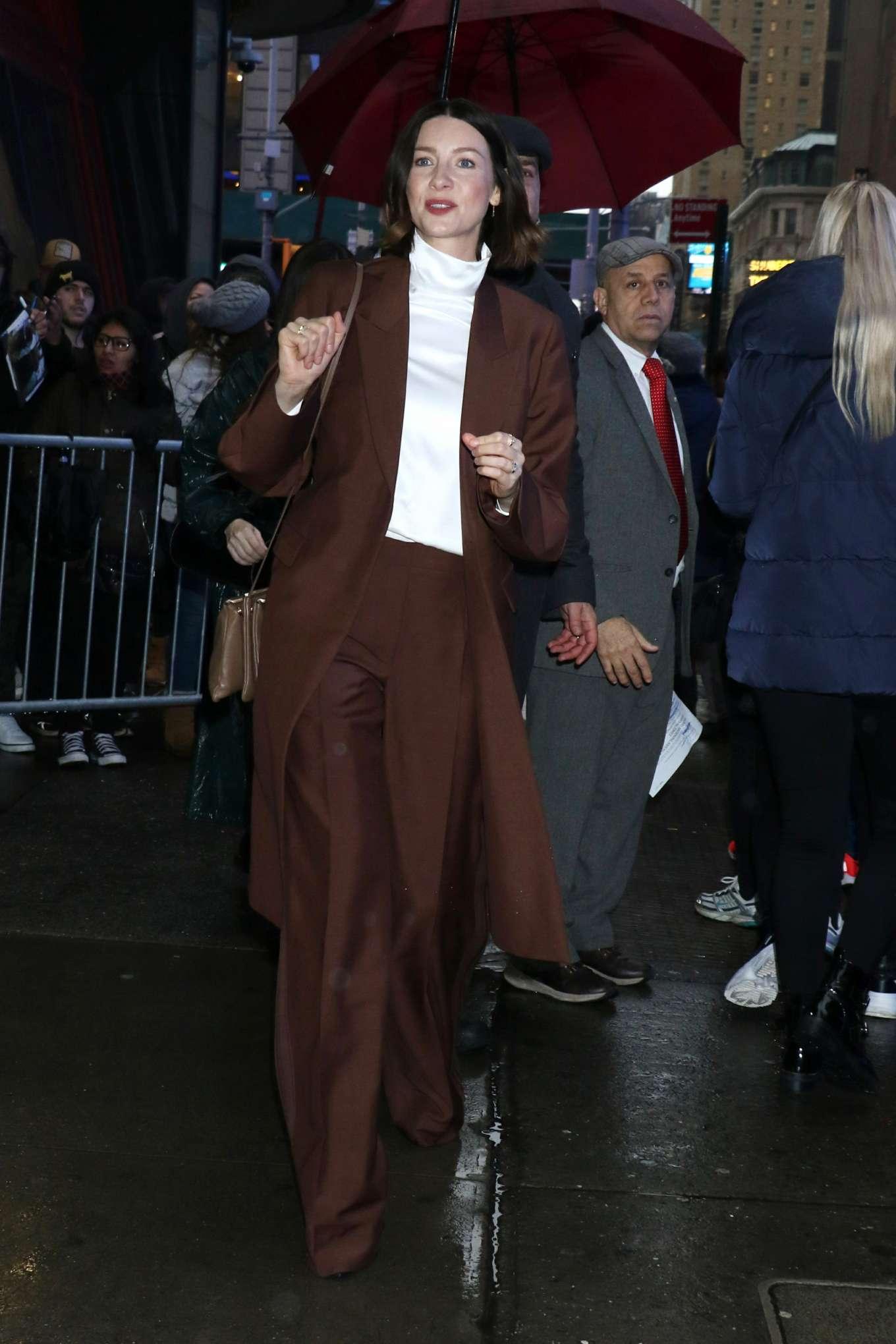 Caitriona Balfe 2020 : Caitriona Balfe are seen outside Good Morning America in New York-02