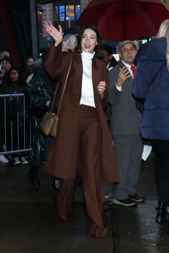 Caitriona Balfe are seen outside Good Morning America in New York
