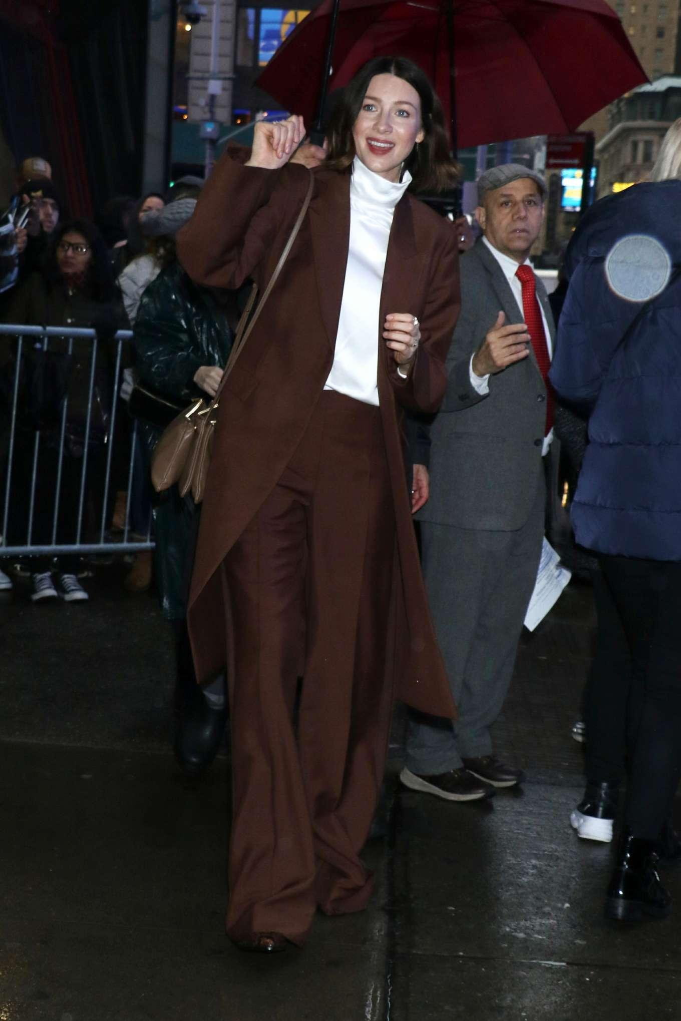 Caitriona Balfe 2020 : Caitriona Balfe are seen outside Good Morning America in New York-06