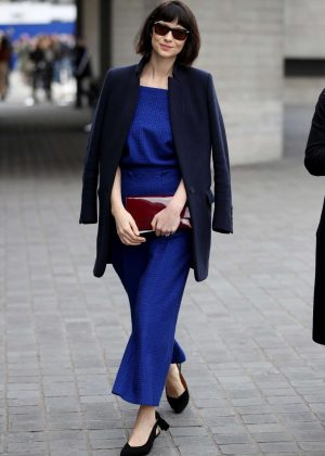 Caitriona Balfe at London Fashion Week in London