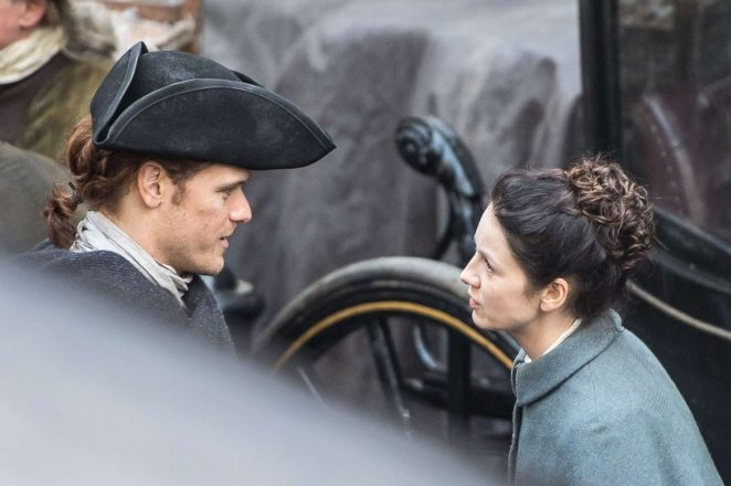 Caitriona Balfe - Filming 'Outlander' set in Edinburgh