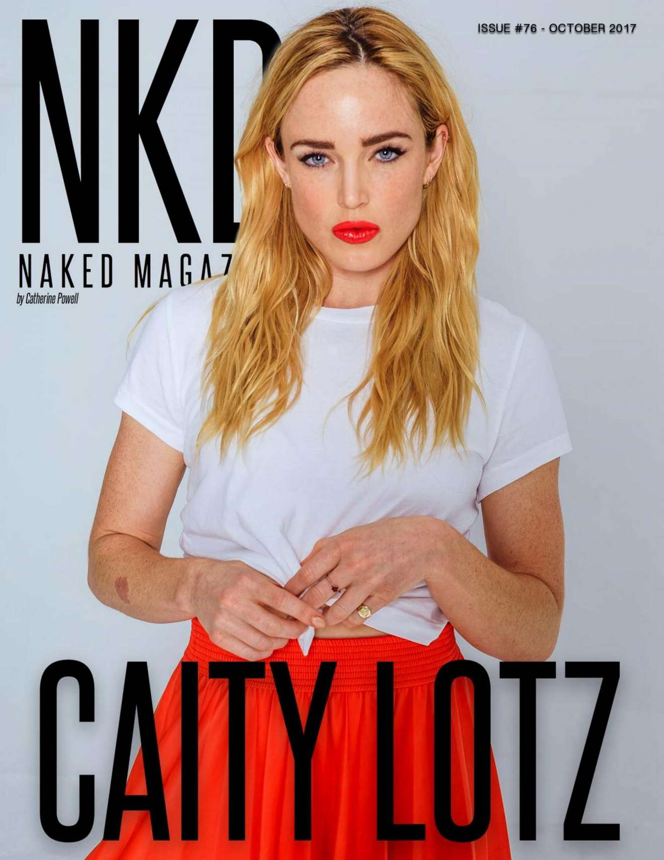 Caity Lotz – NKD Magazine Issue 76 by Catherine Powell