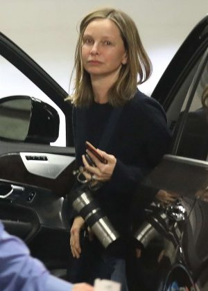 Calista Flockhart - Attends a physical therapy session in Beverly Hills