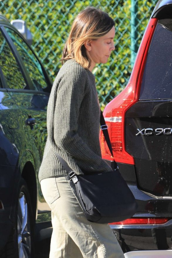 Calista Flockhart - Christmas shopping in West Hollywood