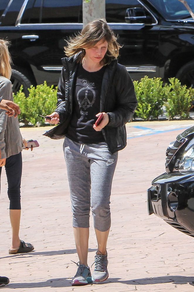 Calista Flockhart out and about in Los Angeles