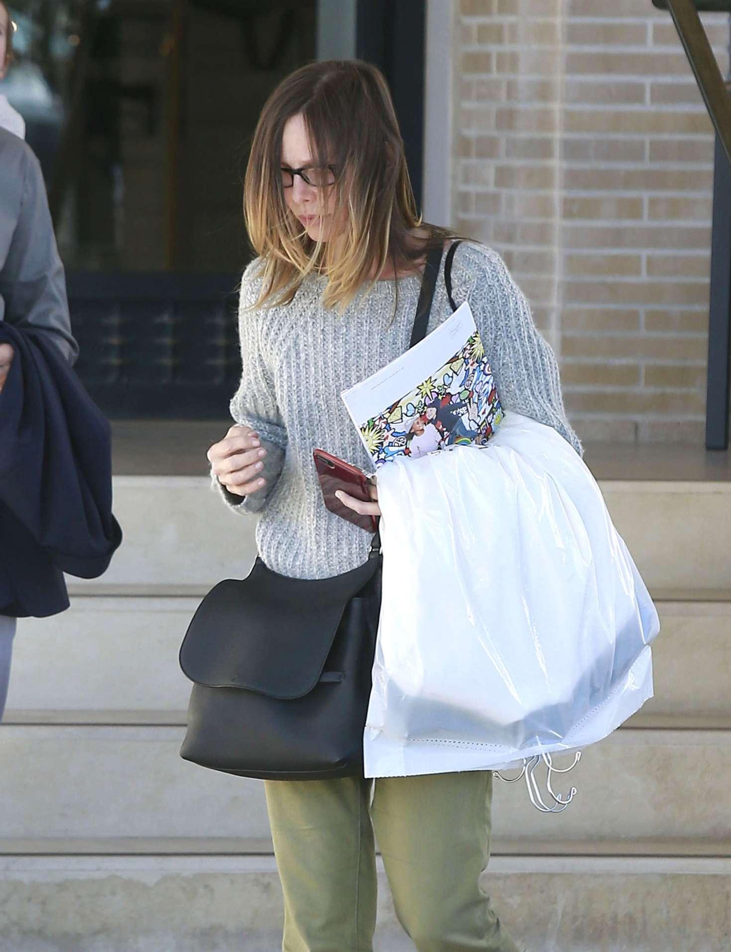 Calista Flockhart Shopping At Barneys New York In