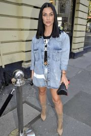 Cally Jane Beech - Aarriving at Gaucho Brunch Party in Manchester