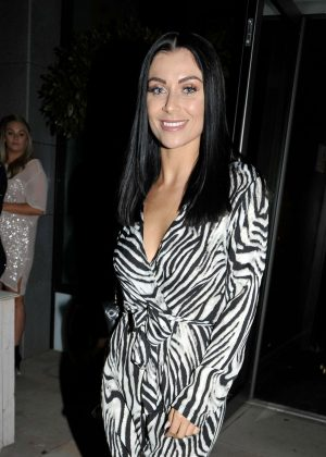 Cally Jane Beech - Arrives at Menagerie Bar in Manchester