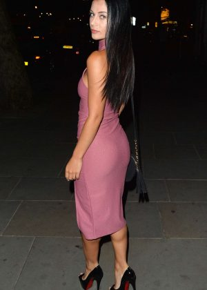 Cally Jane Beech at STK Restaurant in London