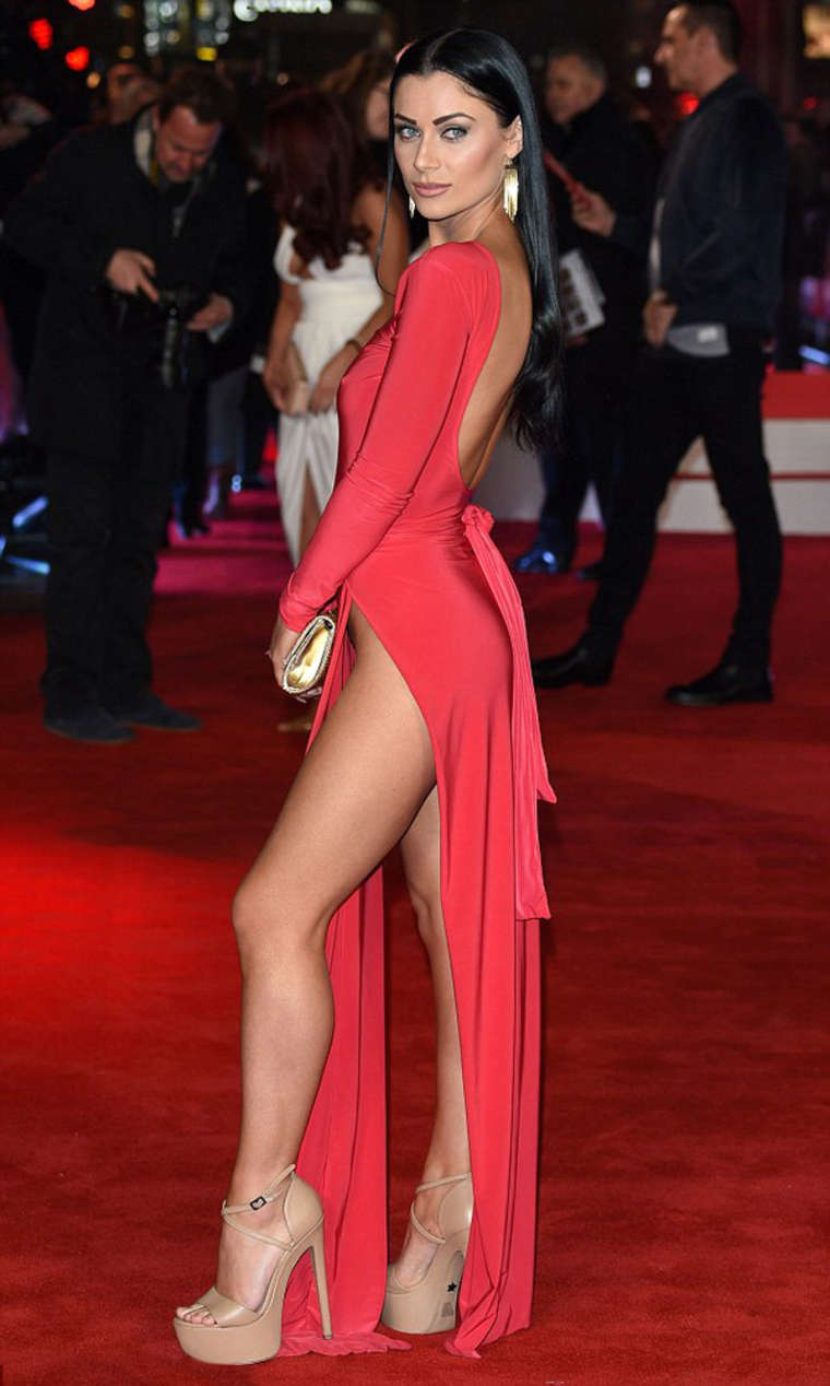 Cally Jane Beech Daddy S Home Premiere In London