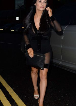 Cally Jane Beech in Black at Menargerie in Manchester