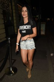Cally Jane Beech in Jeans Shorts - Night out in Manchester