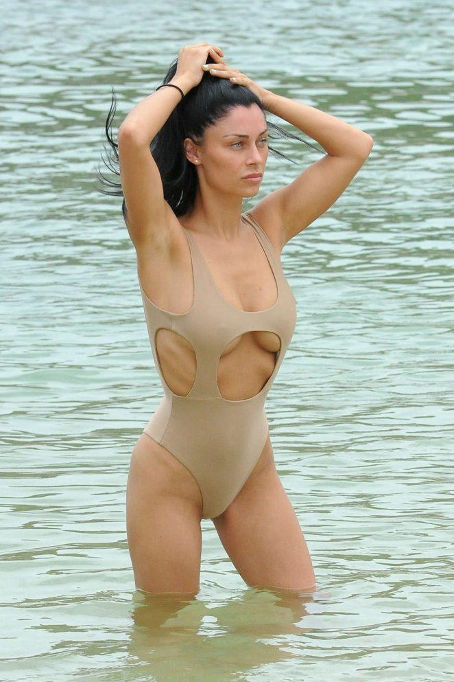Cally Jane Beech in Swimsuit in Ibiza