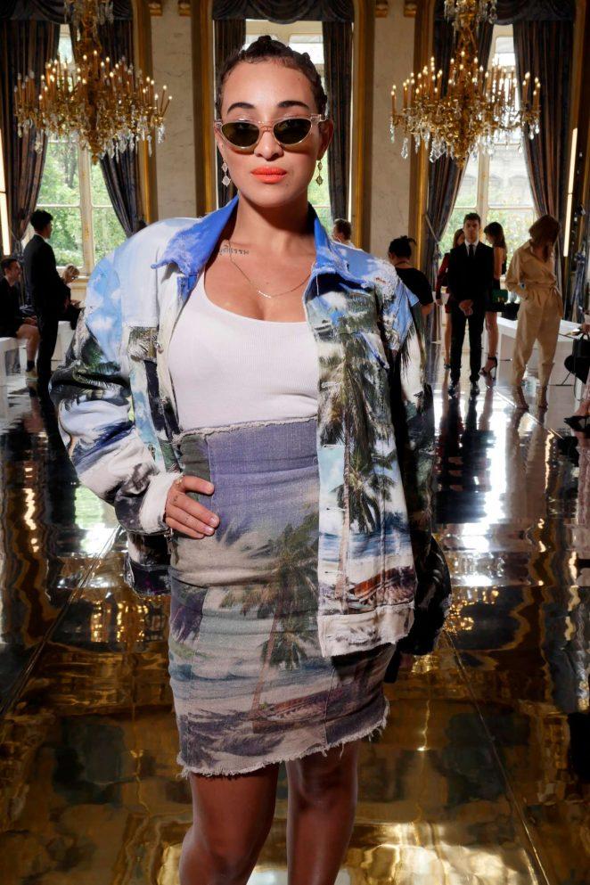 Camelia Jordana - Balmain Menswear SS 2019 in Paris