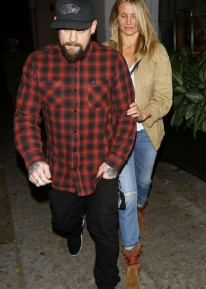 Cameron Diaz and Benji Madden Leave a salon in LA