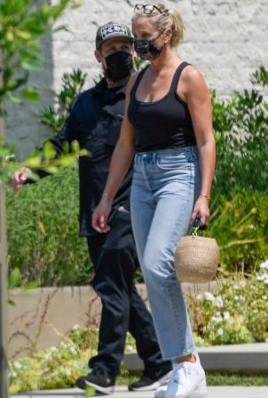 Cameron Diaz and Benji Madden - Out and about