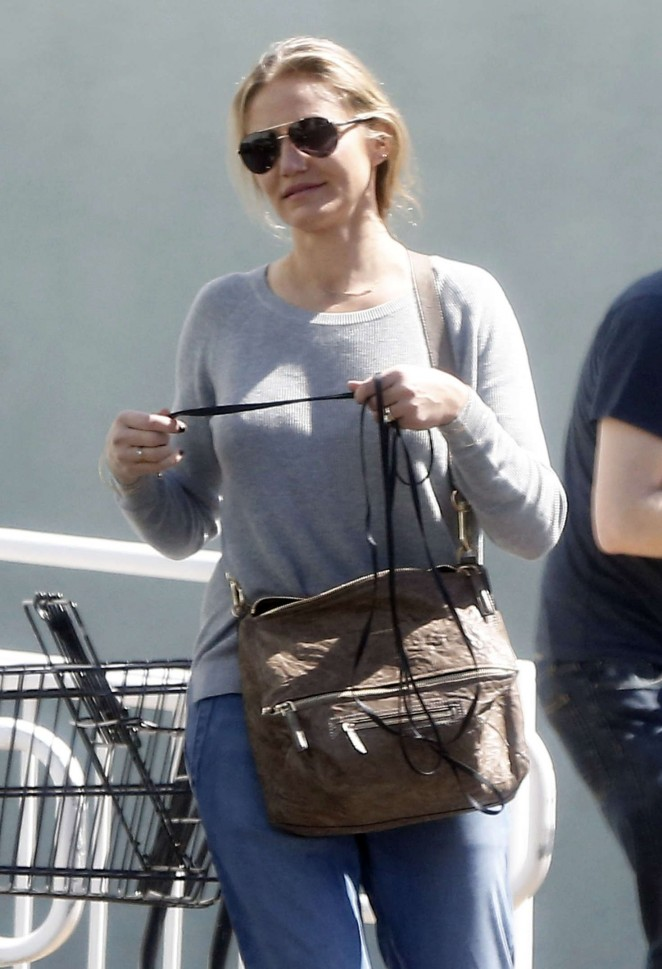 Cameron Diaz at Healthy Spot in West Hollywood