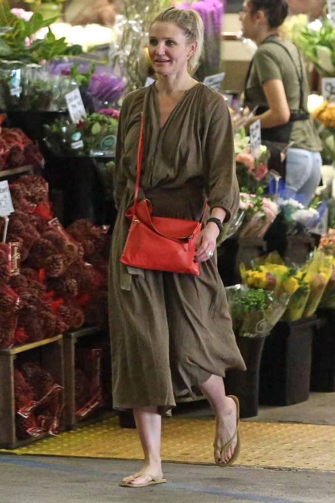 Cameron Diaz - Heads to the supermarket in Los Angeles