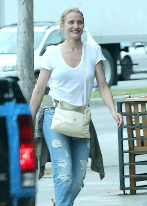 Cameron Diaz in Jeans out in Hollywood