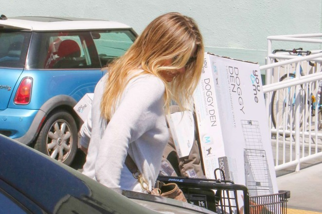 Cameron Diaz in Jeans Shopping at Petco -02
