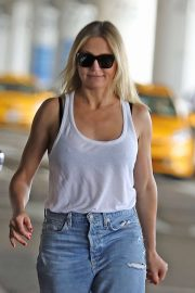 Cameron Diaz in white tank top in Los Angeles