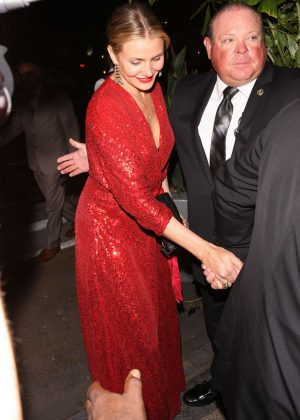 Cameron Diaz - Leaving Gwyneth Paltrow Black Tie Event in LA