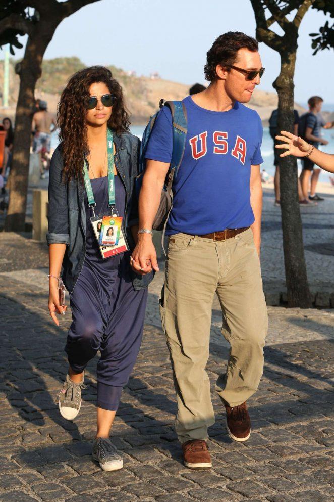 Camila Alves and Matthew McConaughey in Rio de Janeiro