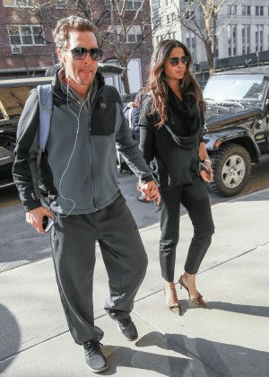 Camila Alves and Matthew McConaughey out in New York