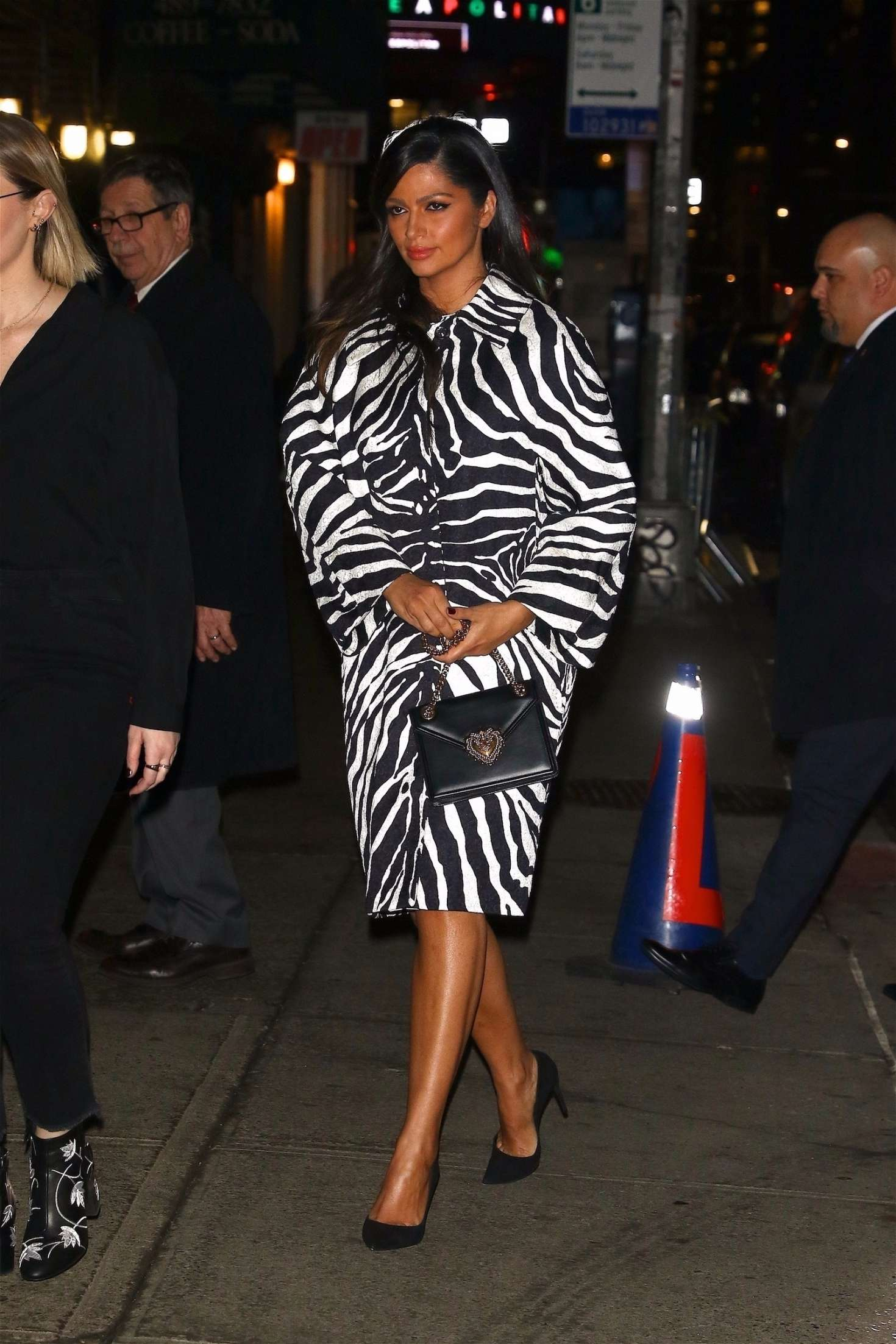 Camila Alves - Arrives on 'The Late Show' in NYC
