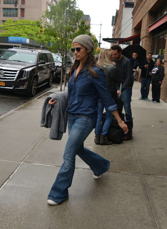Camila Alves in Jeans out in SoHo