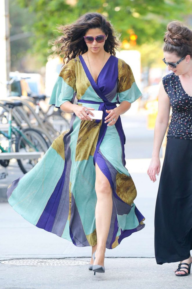 Camila Alves in Long Dress out in New York