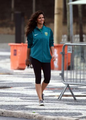 Camila Alves in Tight Leggings out in Rio de Janeiro