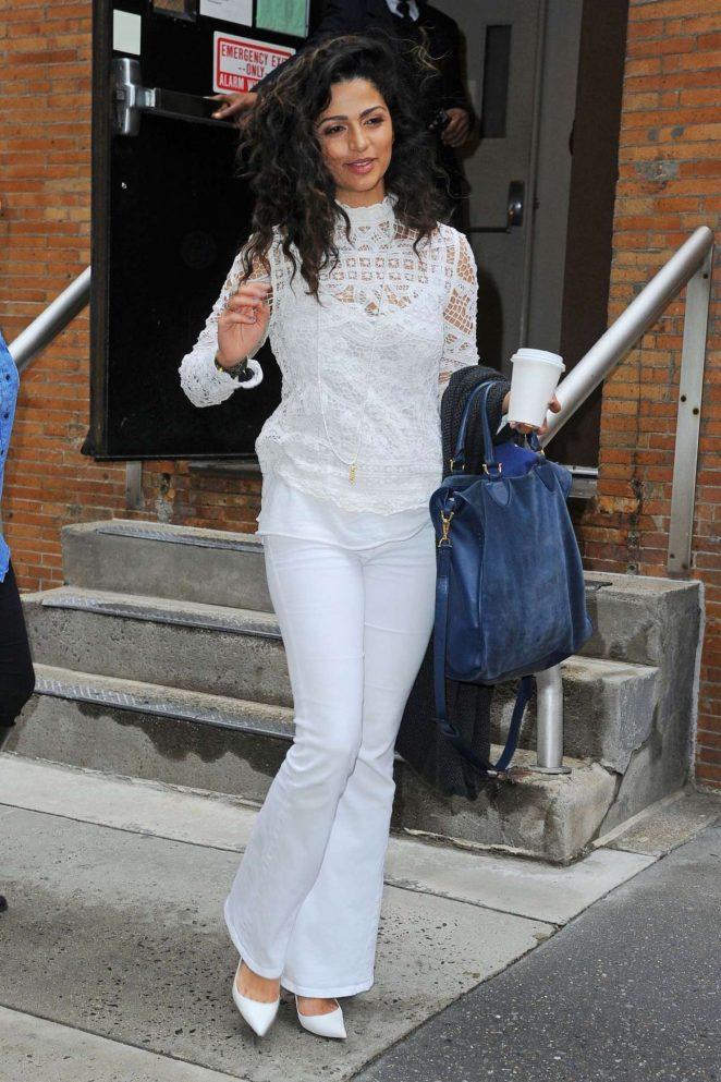 Camila Alves - Leaves ABC Studios in New York