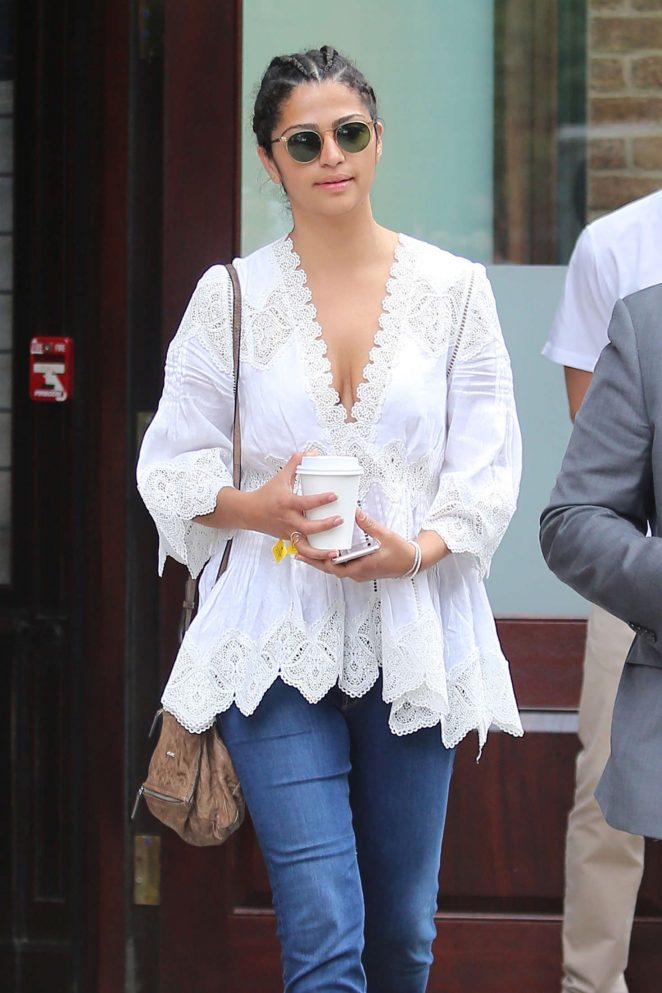 Camila Alves - Leaves her Greenwich hotel in Soho