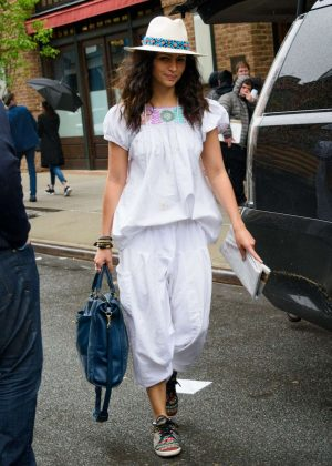 Camila Alves - Leaves Her Hotel in New York