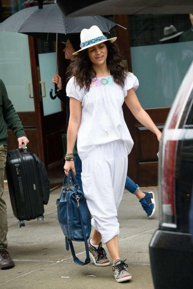 Camila Alves: Leaves Her Hotel in New York -05