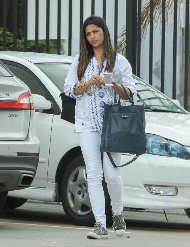 Camila Alves - Leaving a building in Los Angeles