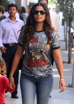 Camila Alves in Jeans Out in NYC