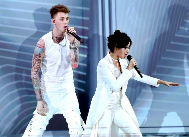 Camila Cabello and Machine Gun Kelly at 2017 Nickelodeon Kids' Choice Awards in LA