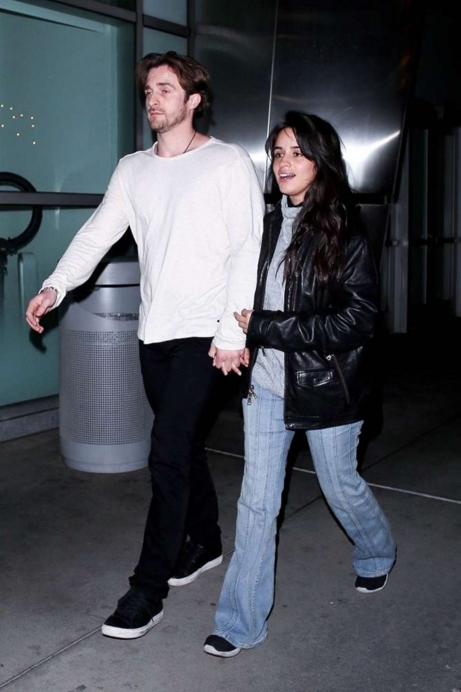 Camila Cabello and Matthew Hussey at ArcLight in Hollywood