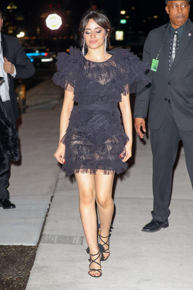 Camila Cabello - Arriving at 2018 Grammy's after party in New York City