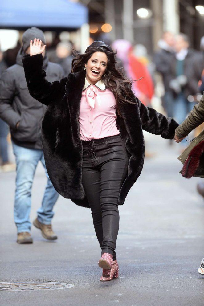 Camila Cabello - Filming a Mastercard commercial in New York City