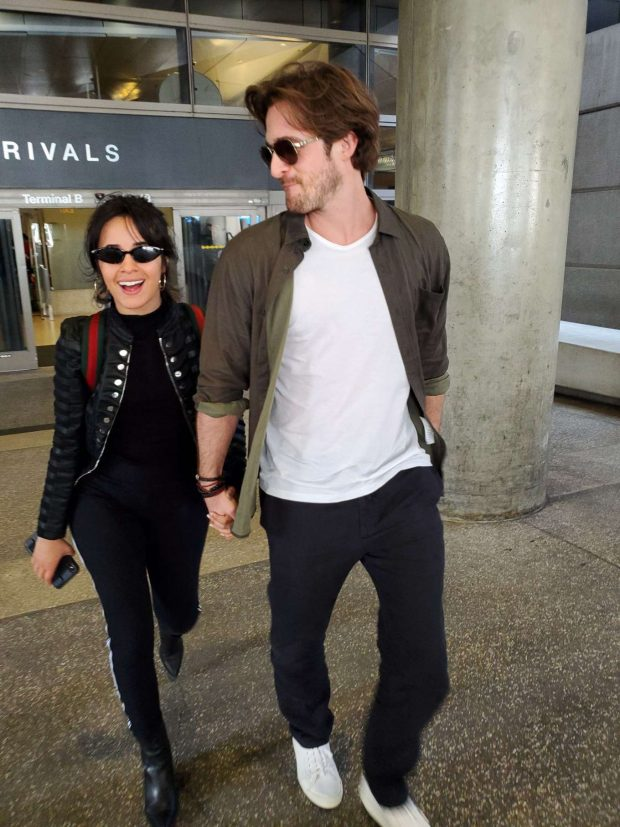 Camila Cabello her boyfriend - Arrives at LAX Airport in Los Angeles
