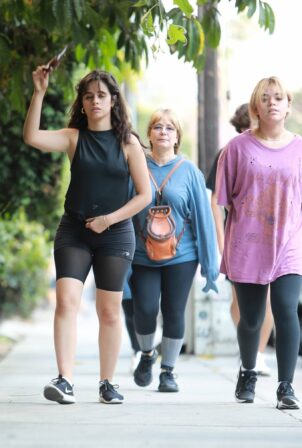 Camila Cabello - Hike candids with her family